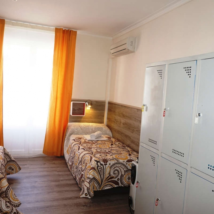 Bed in 4-Bed Dormitory Room with Shared Bathroom 3